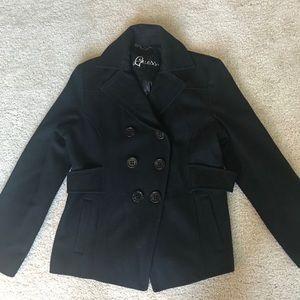 Guess Black Pea Coat